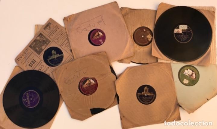FANTASTICO LOTE DE 8 DISCOS PIZARRA, GRAMOLA (Música - Discos - Pizarra - Otros estilos)