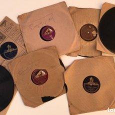 Discos de pizarra: FANTASTICO LOTE DE 8 DISCOS PIZARRA, GRAMOLA. Lote 103870727