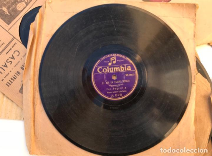 Discos de pizarra: Fantastico lote de 8 discos pizarra, gramola - Foto 2 - 103870727