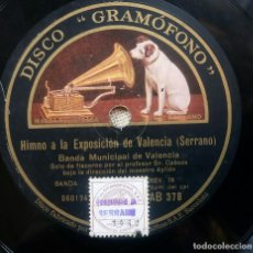Discos de pizarra: HIMNO A LA EXPOSICIÓN DE VALENCIA.SERRANO.BANDA MUNICIPAL VALENCIA.ANTIGUO DISCO PIZARRA.GRAMOFONO.. Lote 103938731