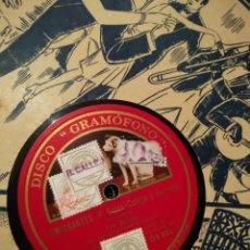 Discos de pizarra: DISCO DE PIZARRA EMIGRANTES Y LA PRINCESITA. Lote 103940806