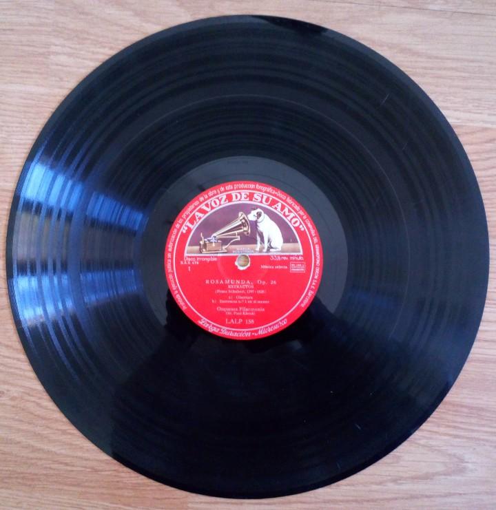 DISCO DE PIZARRA ROSAMUNDA OP. 26 LA VOZ DE SU AMO. FRANZ SHUBERT. ORQUESTA FILARMÓNICA PAUL KLETZKI (Música - Discos - Pizarra - Clásica, Ópera, Zarzuela y Marchas)