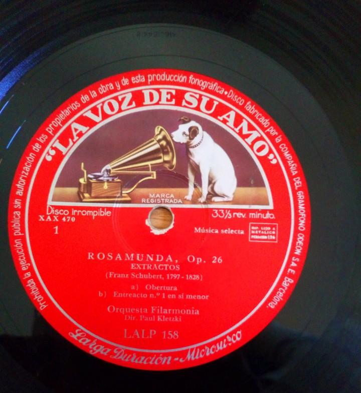 Discos de pizarra: DISCO DE PIZARRA ROSAMUNDA OP. 26 LA VOZ DE SU AMO. FRANZ SHUBERT. ORQUESTA FILARMÓNICA PAUL KLETZKI - Foto 2 - 104062395