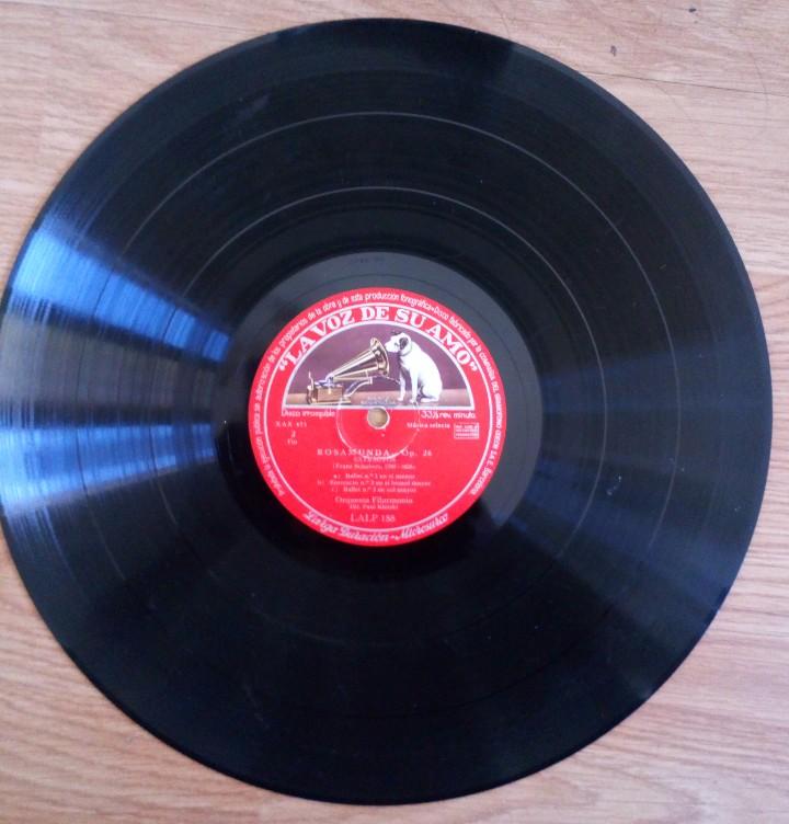 Discos de pizarra: DISCO DE PIZARRA ROSAMUNDA OP. 26 LA VOZ DE SU AMO. FRANZ SHUBERT. ORQUESTA FILARMÓNICA PAUL KLETZKI - Foto 3 - 104062395