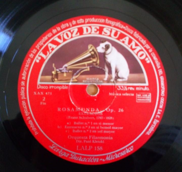 Discos de pizarra: DISCO DE PIZARRA ROSAMUNDA OP. 26 LA VOZ DE SU AMO. FRANZ SHUBERT. ORQUESTA FILARMÓNICA PAUL KLETZKI - Foto 4 - 104062395