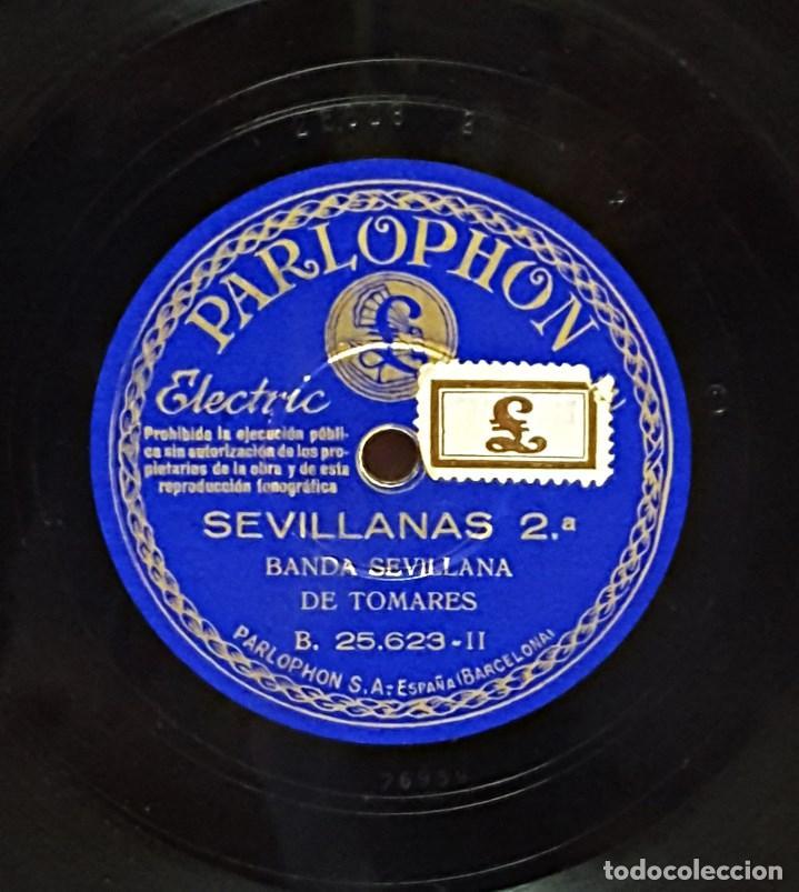 Discos de pizarra: Disco de pizarra PARLOPHON de Banda Sevillana de Tomares. - Foto 4 - 104279883