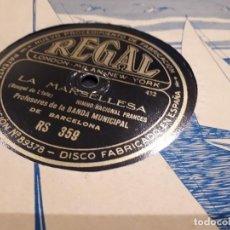 Discos de pizarra: DISCO DE PIZARRA LA MARSELLESA. Lote 104500155