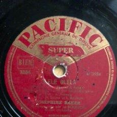 Disques en gomme-laque: DISCO PIZARRA 78 RPM JOSEPHINE BAKER. Lote 105075424
