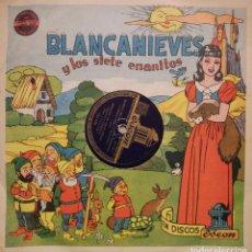 Discos de pizarra: BLANCANIEVES CUENTO INFANTIL EN DOS DISCOS DE LA COMPAÑIA DE GRAMÓFONOS ODEON, ORIGINAL DEL AÑO 1948. Lote 106184659