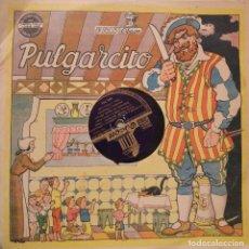 Discos de pizarra: PORTADA CUENTO PULGARCITO DEL AÑO 1948 DE DISCO ODEON + 2 DISCOS DE PIZARRA. Lote 106189115