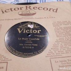 Discos de pizarra: DISCO DE PIZARRA CARMEN FLORES. Lote 107355379