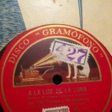 Discos de pizarra: DISCO PIZARRA LA VOZ DE SU AMO A LA LUZ DE LA LUNA Y LOS RUMBEROS. Lote 107687904