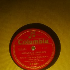 Discos de pizarra: DISCO COLUMBIA CON LA GRAN ORQUETA COLUMBIA.. Lote 108003890
