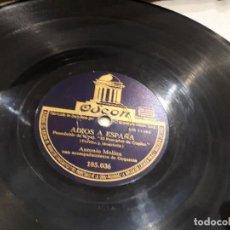 Discos de pizarra: DISCO DE PIZARRA ANTONIO MOLINA. Lote 108363515
