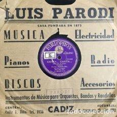 Discos de pizarra: CANTA CANTA. TOMÁS, QUIERO SER MAMÁ. DISCO PIZARRA,10 PULGADAS. GODOY, M. D-PIZARRA-0013. Lote 108790527
