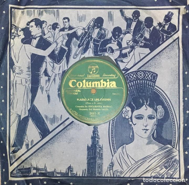 ENCARNITA MARZAL, ORQUESTA DEL MAESTRO LACALLE. DISCO PIZARRA,10 PULGADAS. D-PIZARRA-0015 (Música - Discos - Pizarra - Flamenco, Canción española y Cuplé)