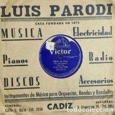 Discos de pizarra: EMILIO SAGRI-BARBA. ALMA DE DIOS. DISCO PIZARRA,10 PULGADAS. VIVES, AMADEO. D-PIZARRA-0016. Lote 108793567