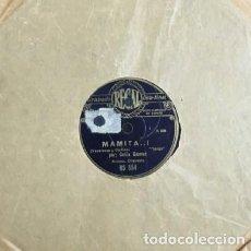 Discos de pizarra: CELIA GÁMEZ. MAMITA. LAS CASTIGADORAS. DISCO PIZARRA,10 PULGADAS. VV.AA. D-PIZARRA-0020. Lote 108865423