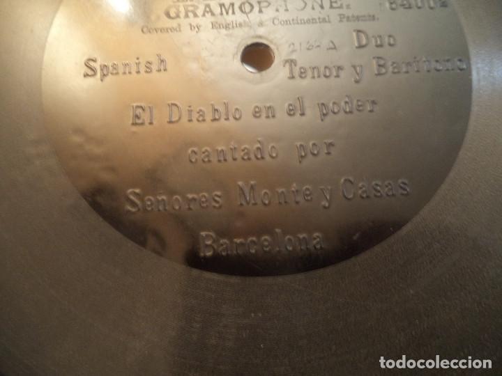 Discos de pizarra: DISCO DE PRINCIPIOS DEL SIGLO XX UNA CARA .EL DIABLO EN EL PODER CANTADO POR MONTE Y CASAS - Foto 3 - 109127079