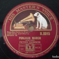 Discos de pizarra: PUNJAUB MARCH - WITH SWORD AND LANCE MARCH POR PETER DAWSON. Lote 109279095