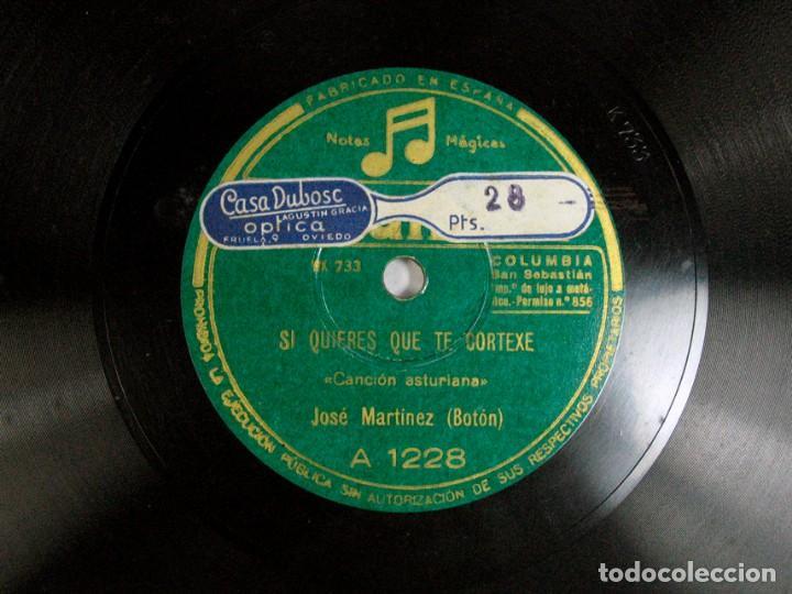"""SIQUIERES QUE TE CORTEXE / CARRETERA DE AVILES. JOSE MARTINEZ """"BOTON"""". CANCION ASTURIANA. ASTURIAS (Música - Discos - Pizarra - Flamenco, Canción española y Cuplé)"""