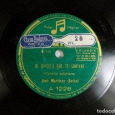 "Discos de pizarra: SIQUIERES QUE TE CORTEXE / CARRETERA DE AVILES. JOSE MARTINEZ ""BOTON"". CANCION ASTURIANA. ASTURIAS. Lote 109295047"