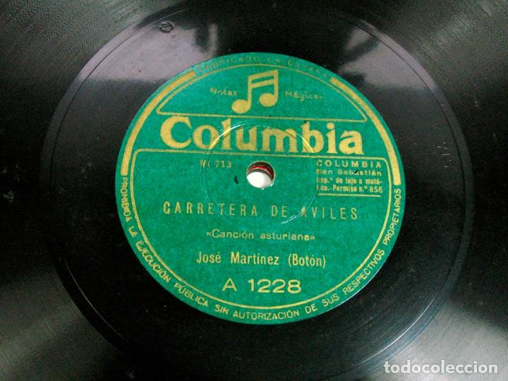 "Discos de pizarra: SIQUIERES QUE TE CORTEXE / CARRETERA DE AVILES. JOSE MARTINEZ ""BOTON"". CANCION ASTURIANA. ASTURIAS - Foto 2 - 109295047"