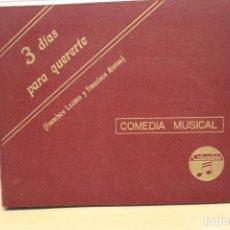 Discos de pizarra: 3 DIAS PARA QUERERTE. OBRA Y ALBUM ORIGINAL. 6 DISCOS DE PIZARRA. Lote 109311199