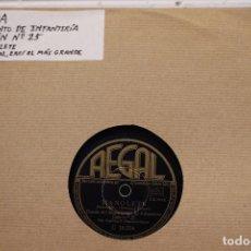 Discos de pizarra: BANDA REGIMIENTO DE INFANTERIA DE JAEN Nº 25. Lote 110345255