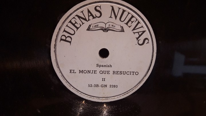 Discos de pizarra: PIZARRA !! DOS DISCOS DE PIZARRA 21 CM ( 8 PULGADAS ) EDITADOS POR BUENAS NUEVAS / MBC. / RAROS - Foto 3 - 110366987