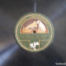 Discos de pizarra: CASIMIRO ORTAS. LA VIDA ES UNA BIRRIA + LA CEDULA DE SOLTERO. . Lote 111091627