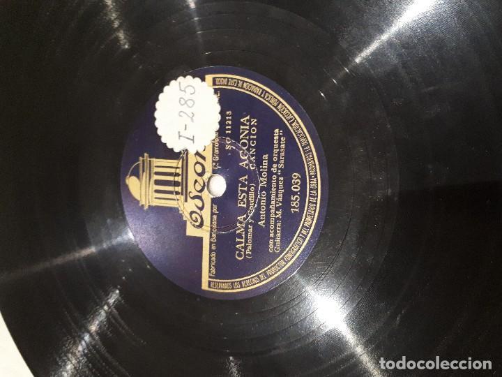 BARQUITO DE MI AMOR DISCO DE PIZARRA ANTONIO MOLINA (Música - Discos - Pizarra - Flamenco, Canción española y Cuplé)