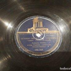 Discos de pizarra: PRIMERA GRABACIÓN EN PIZARRA ANTONIO MOLINA. Lote 112049683