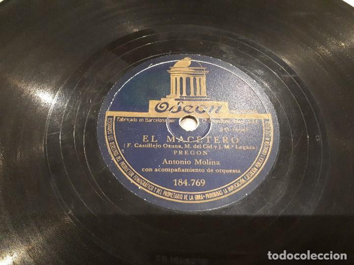 Discos de pizarra: Primera grabación en pizarra Antonio Molina - Foto 2 - 112049683