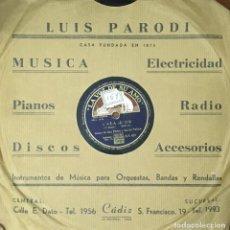 Discos de pizarra: BONET DE SAN PEDRO Y LOS DE LA PALMA. CANCIÓN FOX Y SON. BONET, P. D-PIZARRA-0134. Lote 112403031