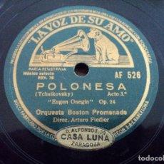 Discos de pizarra: ORQUESTA BOSTON PROMENADE, GOYESCAS DE GRANADOS Y POLONESA DE TCHAICOVSKY. Lote 112427967