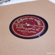 Discos de pizarra: DISCO DE PIZARRA SARDANAS RARO. Lote 112431747