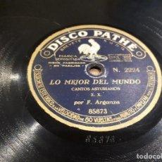 Discos de pizarra: CANTOS ASTURIANOS CON MUCHA GAITA DISCO DE PIZARRA. Lote 113172919