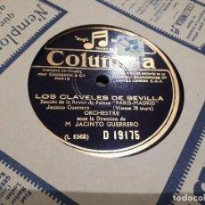 Discos de pizarra: LOS CLAVELES DE SEVILLA DISCO DE PIZARRA. Lote 113340731