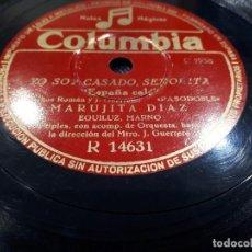 Discos de pizarra: DISCO DE PIZARRA MARUJITA DIAZ. Lote 113584599