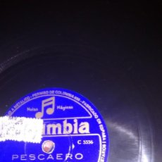 Discos de pizarra: DISCO PIZARRA. PESCAERO. LOLA FLORES.COLUMBIA. Lote 113603559