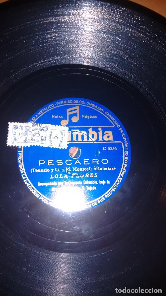 Discos de pizarra: Disco pizarra. Pescaero. Lola flores.columbia - Foto 2 - 113603559