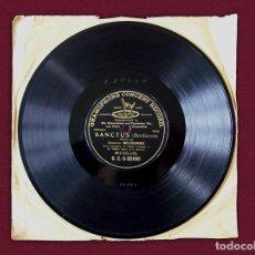 Discos de pizarra: DISCO PARA GRAMÓFONO – SANCTUS ( BEETHOVEN ). Lote 114788471