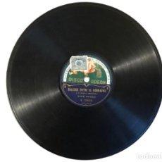Discos de pizarra: DIALOGO ENTRE EL BORRACHO Y EL CÉLEBRE VENTRILOCUO, SANZ, BARCELONA, ESCENA DEL AUTÓMATA PEPITO. Lote 114862615