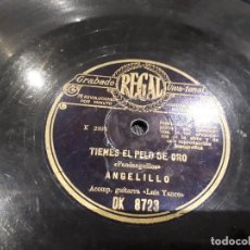 Discos de pizarra: DISCO DE PIZARRA ANGELILLO. Lote 115198499