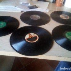 Discos de pizarra: LOTE 5 DISCOS PIZARRA GRAMOFONO 78 RPM SARDANAS SARDANES. Lote 115352487