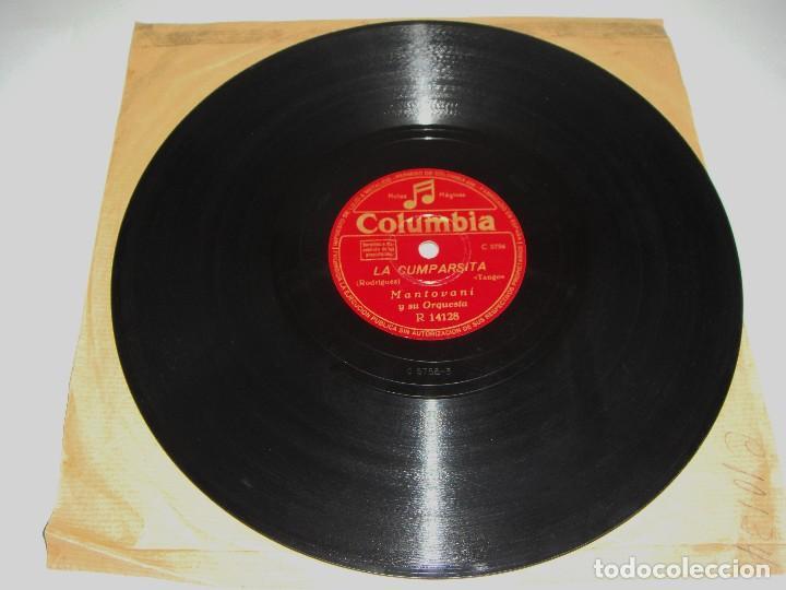 Discos de pizarra: Disco de Pizarra. Mantovani y su Orquesta. Celos. La Cumparsita. - Foto 2 - 115563983