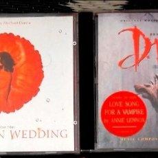 Discos de pizarra: LOTE 2 CDS BSO DRÁCULA BRAM STOKER, LA BODA DEL MONZÓN MUY BUEN ESTADO DE CONSERVACIÓN. SIN USO. Lote 115698403