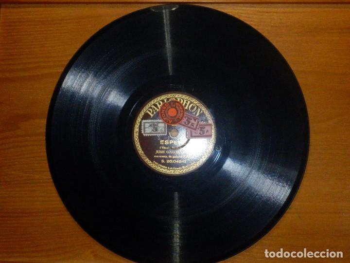 Discos de pizarra: Disco de Pizarra - Tenor Juan García -Acompaña Guitarra Piano -Granadinas, Esperé - Parlophon 26.049 - Foto 3 - 116710447