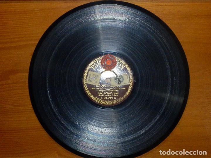 Discos de pizarra: Disco de Pizarra - Tenor Juan García - Pregon y Raconto del Riojano- La Moza Vieja- Parlophon 26.055 - Foto 3 - 116711631